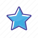 blue, mark, rank, star icon