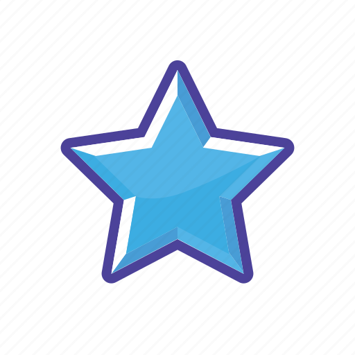 blue, mark, rank, star icon