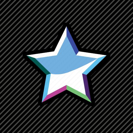 cristal, mark, rank, star icon
