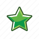ecological, eko, green, mark, rank, star, stats icon