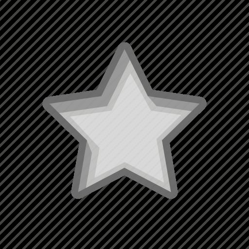 after, empty, hole, mark, print, rank, star icon