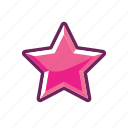 erotic, mark, pink, rank, sexy, star icon