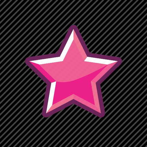 erotic, mark, pink, rank, sexy, star icon
