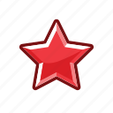 alert, mark, rank, red, star icon