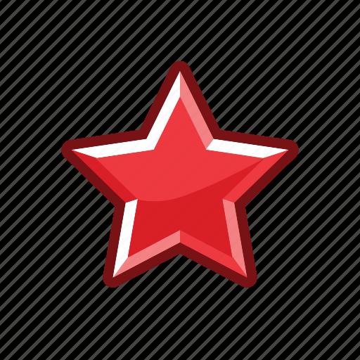 alert, mark, rank, red, star icon