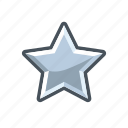 mark, rank, silver, star icon