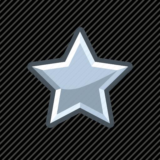mark, rank, silver, star icon