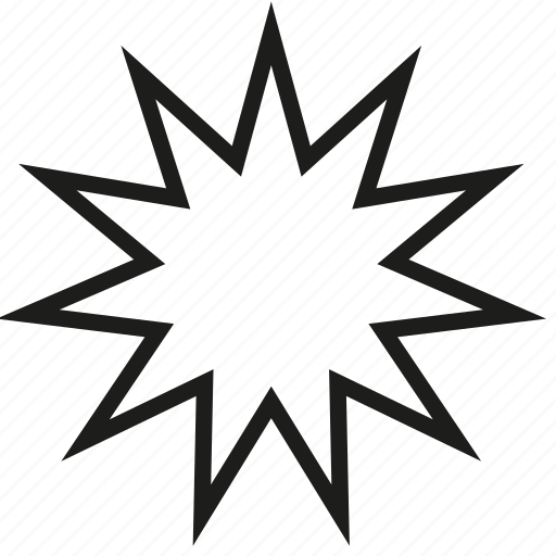 Medium, outline, point, star icon - Download on Iconfinder