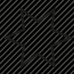 medium, outline, point, star icon