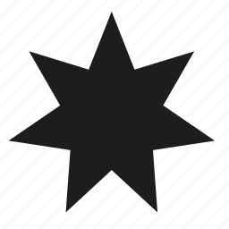 filled, point, star icon