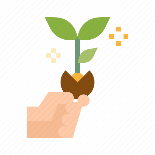 business, finance, growth, money, plant icon