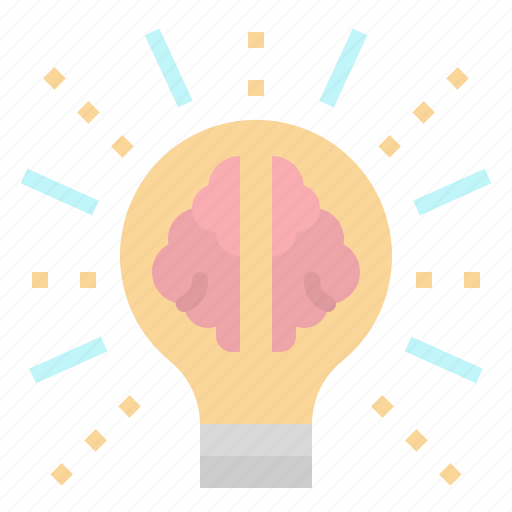 Brain, bulb, echnology, idea, light icon - Download on Iconfinder
