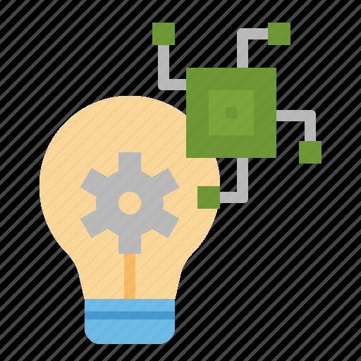 chip, gear, idea, innovation, process icon