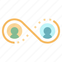 connection, infinity, link, network, team