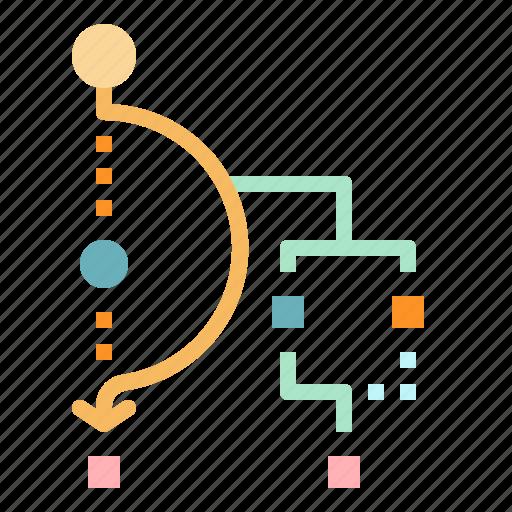 business, finance, organization, seo, workflow icon
