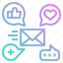 feedback, happy, like, rating, reply icon
