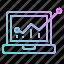 chart, graph, graphic, line, statistics icon