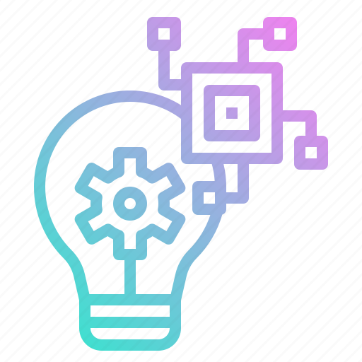 chip, gear, idea, innovation, process icon