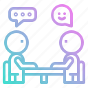 boss, interview, job, meeting, reunion icon