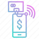 banking, mobile, payment, phone, shopping icon