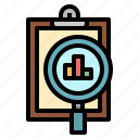 analysis, analytics, chart, clipboard, data icon
