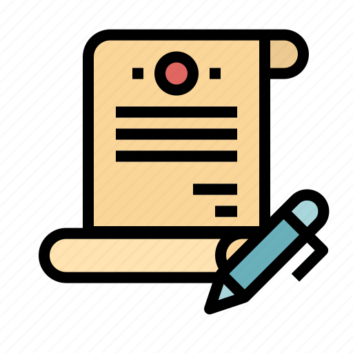 Agreement, contract, document, files, pen icon - Download on Iconfinder