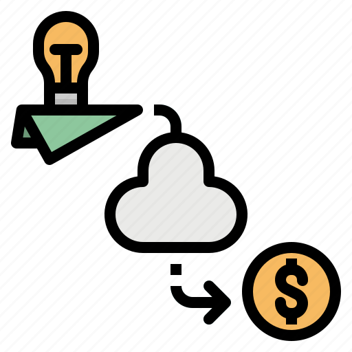 Cloud, corporation, crowdfunding, investment, money icon - Download on Iconfinder