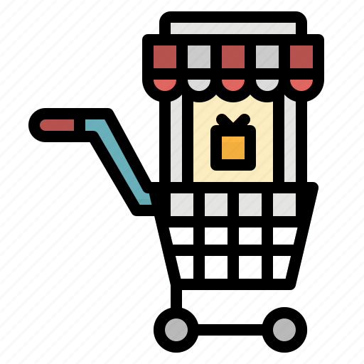 Cart, ecommerce, monitor, online, shop icon - Download on Iconfinder