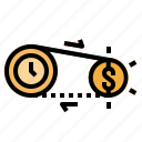 clock, money, process, time, timer icon