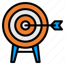 arrow, goal, mission, success, target icon