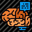 brain, intelligent, mind, question, thinking icon