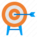 arrow, goal, mission, success, target icon