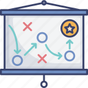 game, plan, presentation, projection, start, up icon