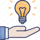 gesture, hand, idea, innovation, lightbulb, thought