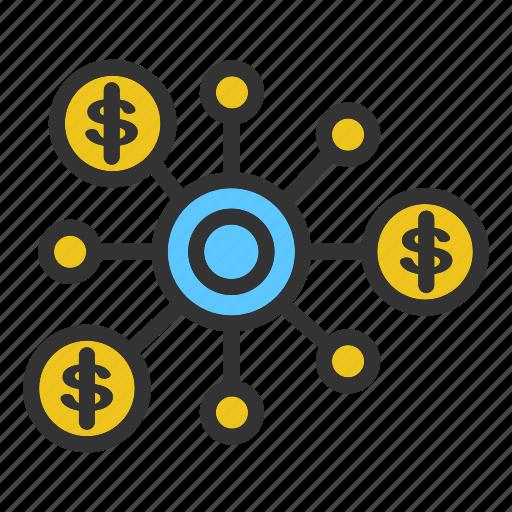 business, concept, dolar, finance, marketing, start, up icon