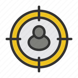 business, concept, finance, marketing, start, target, up icon