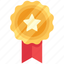achievement, award, badge, star icon