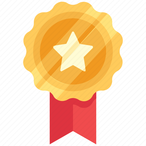 achievement, award, badge, star icon