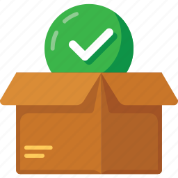 box, check, delivery, goods icon