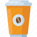 coffee, cup, drink, hot, to go icon