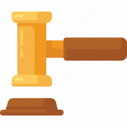 auction, court, gavel, justice, law icon