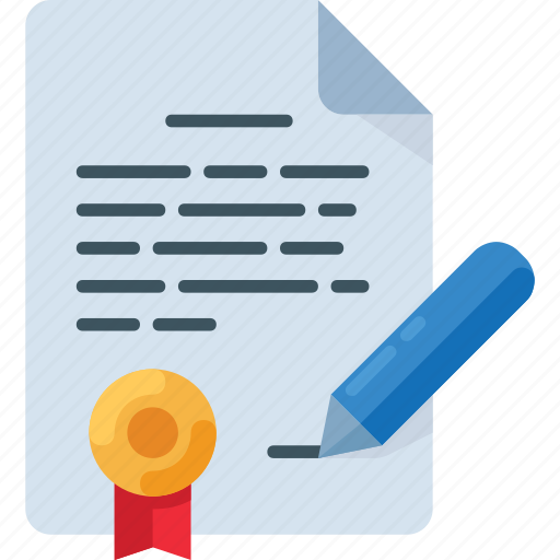 contract, doc, document, office, sign, write icon