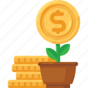 business, coins, finance, growth, money, plant