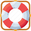 help, lifebuoy, sea, support icon