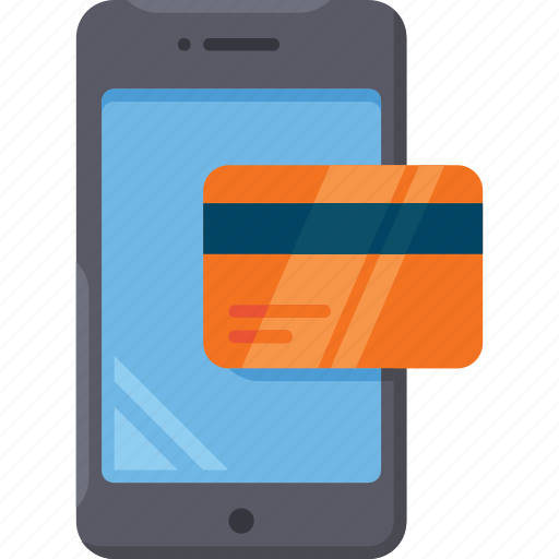card, finance, mobile, payment, shop icon