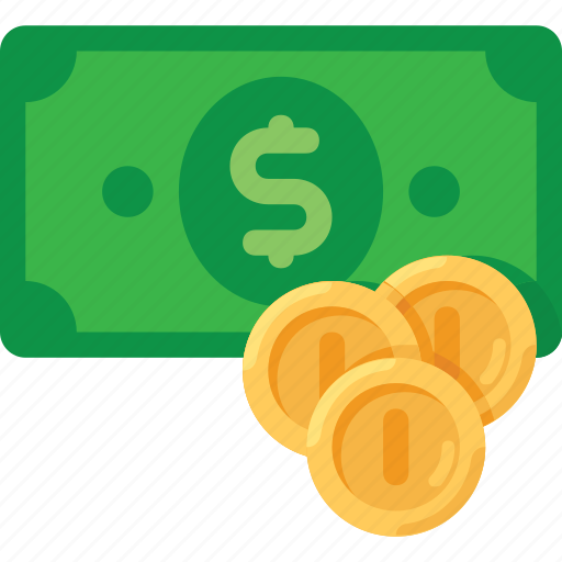 banknote, coins, dollar, finance, money icon