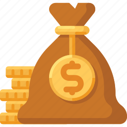 bag, coins, dollar, finance, gold, money icon