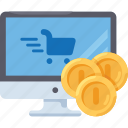 shop, web, money, coins, pc, computer, payment