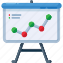analytics, chart, data, graph, presentation, report icon