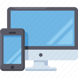 adaptive, computer, mobile, pc, responsive icon
